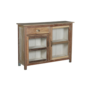 Sideboard in vintage teak with white inside. Perfect for your kitchen. 120*35*96 cm
