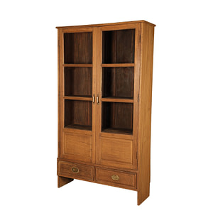 Vintage cabinet with glass doors and 2 drawers in the bottom. Size 114*40*200