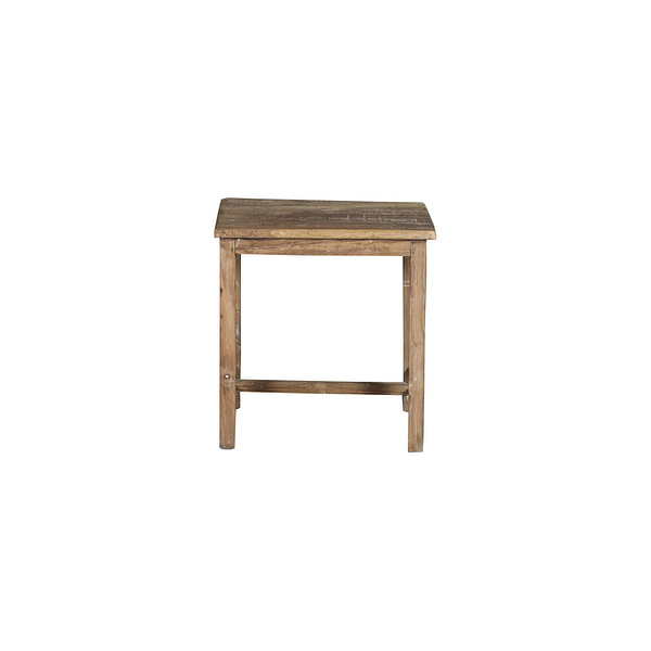 Vintage stool in teak. Size 43*32*45