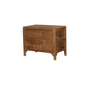 A small drawer chest with 2 drawers in vintage teak. Size 76*47*61