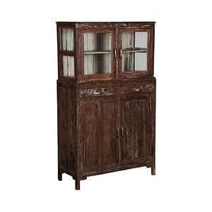 Kitchen cabinet with 2 pairs of double doors