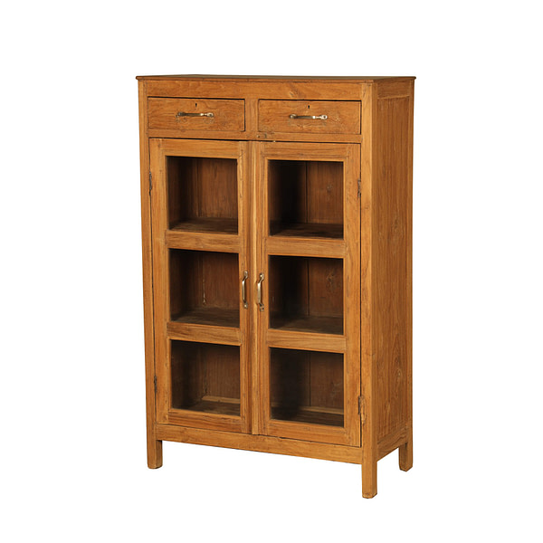A cabinet with drawers in Vintage teak. Size 77*36*153
