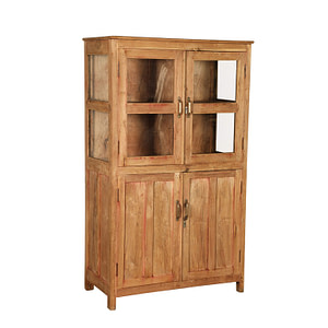 A perfect kitchen or linen cabinet in vintage teak with double doors. Size 94*47*156