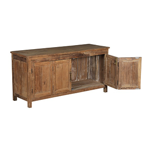 Low sideboard in vintage teak. Works perfect as a TV bench. Size 125 cm lenght and 63 cm height